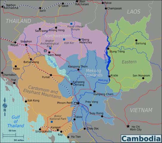 Grafik: Regionalkarte Kambodscha