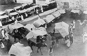 Hejaz Vilayet - Image: Camels and tents of pilgrims, Mecca 1910