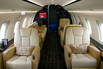 Bombardier Challenger 600 series - The Challenger cabin