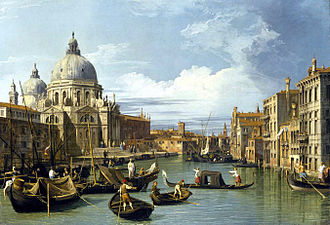 1730 in art - Image: Canaletto Entrance to the Grand Canal Venice