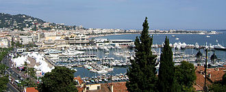 Cannes - Panorama of the waterfront