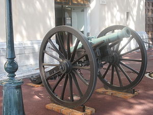 Napoleon Museum (Monaco) - Cannon at the entrance of the museum.