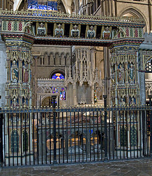 "Henry Chichele - Railings (""the Chichele gate"") at his tomb in Canterbury Cathedral"