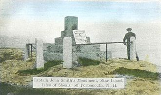 John Smith (explorer) - Capt. John Smith Monument, as it appeared c. 1914, Isles of Shoals