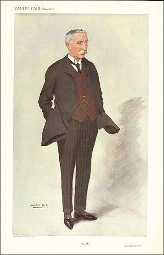 Sir Carl Meyer, 1st Baronet - A caricature of Meyer in Vanity Fair, 1909.