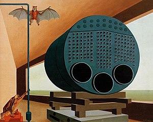 Carl Grossberg - Image: Carl Grossberg Traumbild Dampfkessel mit Fledermaus 1928