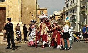 Maltese Carnival - Image: Carnival in Valletta Costumes from the Renaissance