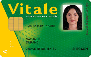Carte Vitale health insurance card for the French national health care system