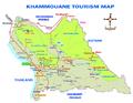 Carte touristique de la province de Khammouane en 2015.png
