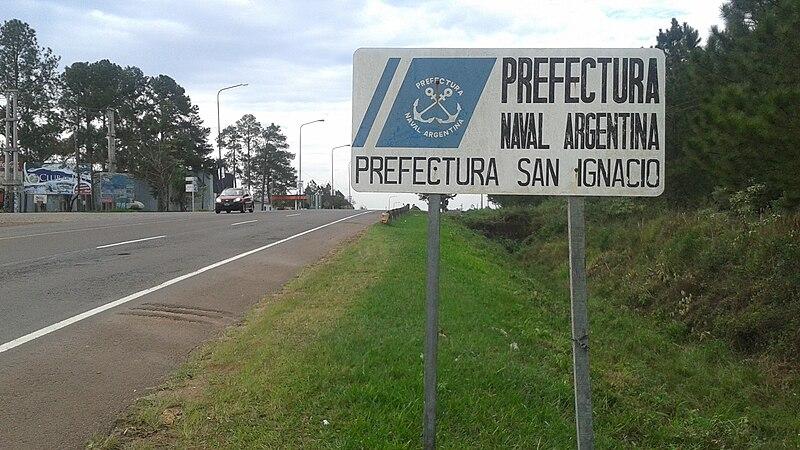 File:Cartel San Ignacio (Provincia de Misiones, Argentina) - Prefectura Naval Argentina - Prefectura San Ignacio.jpg