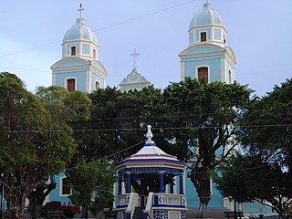 Metropolitan Cathedral of Santarem, in Santarem, Brazil