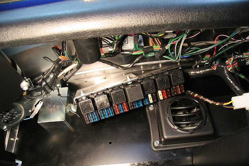 File:Caterham Roadsport building - 116 - Unscrew the fuse box... - Flickr - exfordy.jpg