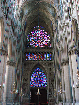 Gothic architecture - Interior, inside and back side of northeastern façade