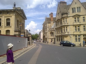 Catte Street - Catte Street, from outside the Bodleian Library, looking north towards Parks Road.