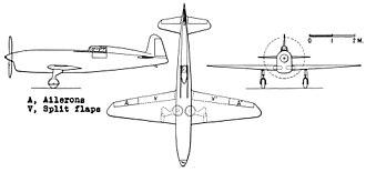 Caudron C.460 - Caudron C.460 3-view drawing from NACA-TM-765