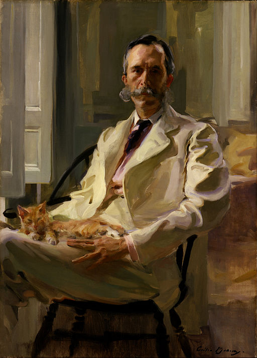 Cecilia Beaux - Man with the Cat (Henry Sturgis Drinker) - Google Art Project