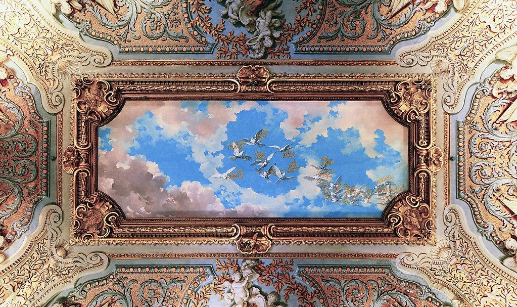 Musée à Rome : Plafond de la Galleria Doria Pamphilj à Rome – Photo de Livioandronico2013