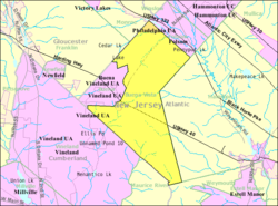 Census Bureau map of Buena Vista, New Jersey