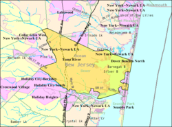 Census Bureau map of Toms River Township, NJ