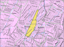 Census Bureau map of Glen Ridge, New Jersey