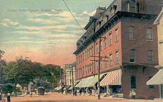 Adams, Massachusetts - Center Street Square c. 1910