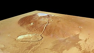 German Aerospace Center - Martian volcano Ceraunius Tholus in perspective by the HRSC aboard Mars Express