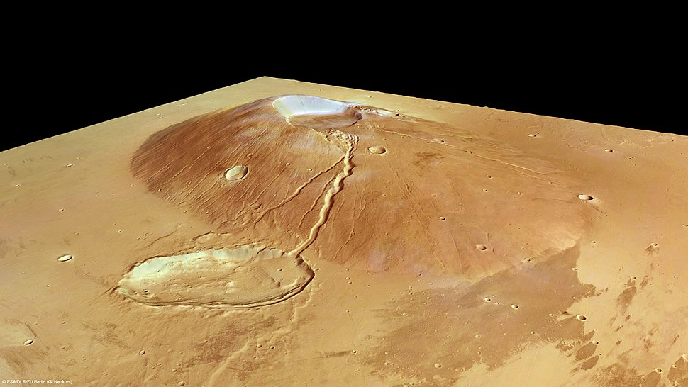 Ceraunius Tholus in perspective by Mars Express