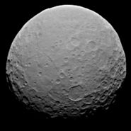 Ceres RC2 single frame by Dawn, 19 February 2015