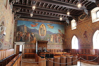 Grand and General Council - Image: Chamber of the Grand and General Council of San Marino