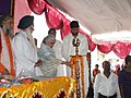 Chandresh Kumari Katoch lighting the lamp at the inaugural function of the 400th Anniversary of Jhansi Fort, in Jhansi, Uttar Pradesh. The Minister of State for Rural Development, Shri Pradeep Jain is also seen.jpg