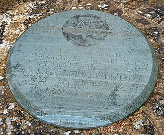 St Peter's Catholic Comprehensive School - Charles Rolls memorial stone