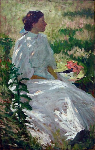 Reading Public Museum - A Study in White (undated), by Charles Webster Hawthorne.