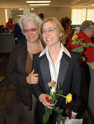 Cheryl Chase (activist) - Cheryl Chase and Robin Mathias married in California in 2008.