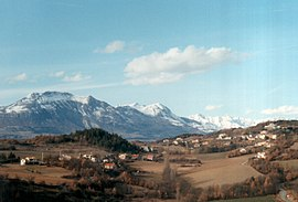 A view of the village of Chateauvieux, from February 1994