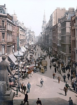 Cheapside - Photochrom of Cheapside, c. 1890-1900