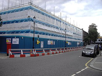 Chelsea Academy - Image: Chelsea Academy under construction at the corner of Burnaby Street and Upcerne Road geograph.org.uk 1492319