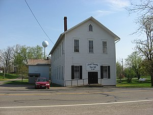 National Register of Historic Places listings in Morrow County, Ohio - Image: Chester Town Hall, Chesterville