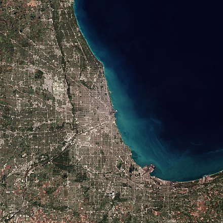 A satellite image of Chicago Chicago by Sentinel-2.jpg