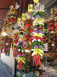Chili peppers can also be used decoratively