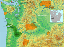 Chinook people lived on both sides of the lower Columbia River from a mountain range east of Portland, Oregon, to the river's mouth on the ocean.