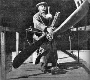 Chiribiri - Antonio Chiribiri and a Miller aero-engine