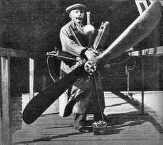 Chiribiri - Antonio Chiribiri and a Miller aero-engine