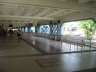 Choa Chu Kang Bus Interchange - The previous interior of CCKI