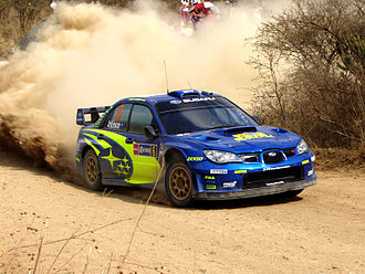 Rally Mexico - Chris Atkinson with a Subaru Impreza WRC at the 2008 event.