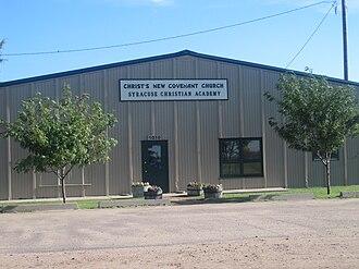 Hamilton County, Kansas - Image: Christ's New Covenant Church, Syracuse, KS IMG 5837