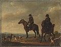 Christian David Gebauer - To jægere til hest - KMS796 - Statens Museum for Kunst.jpg