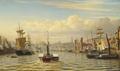 Christian Eckardt - Havneparti fra Newcastle - 1882.png