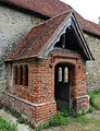 Church at Mashbury, Essex, England, porch from the south-east.JPG