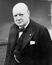 Il Primo ministro inglese Winston Churchill