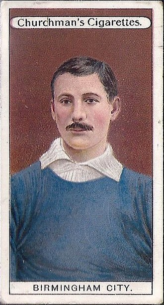 Trading card - Early association football card by Churchman, 1909